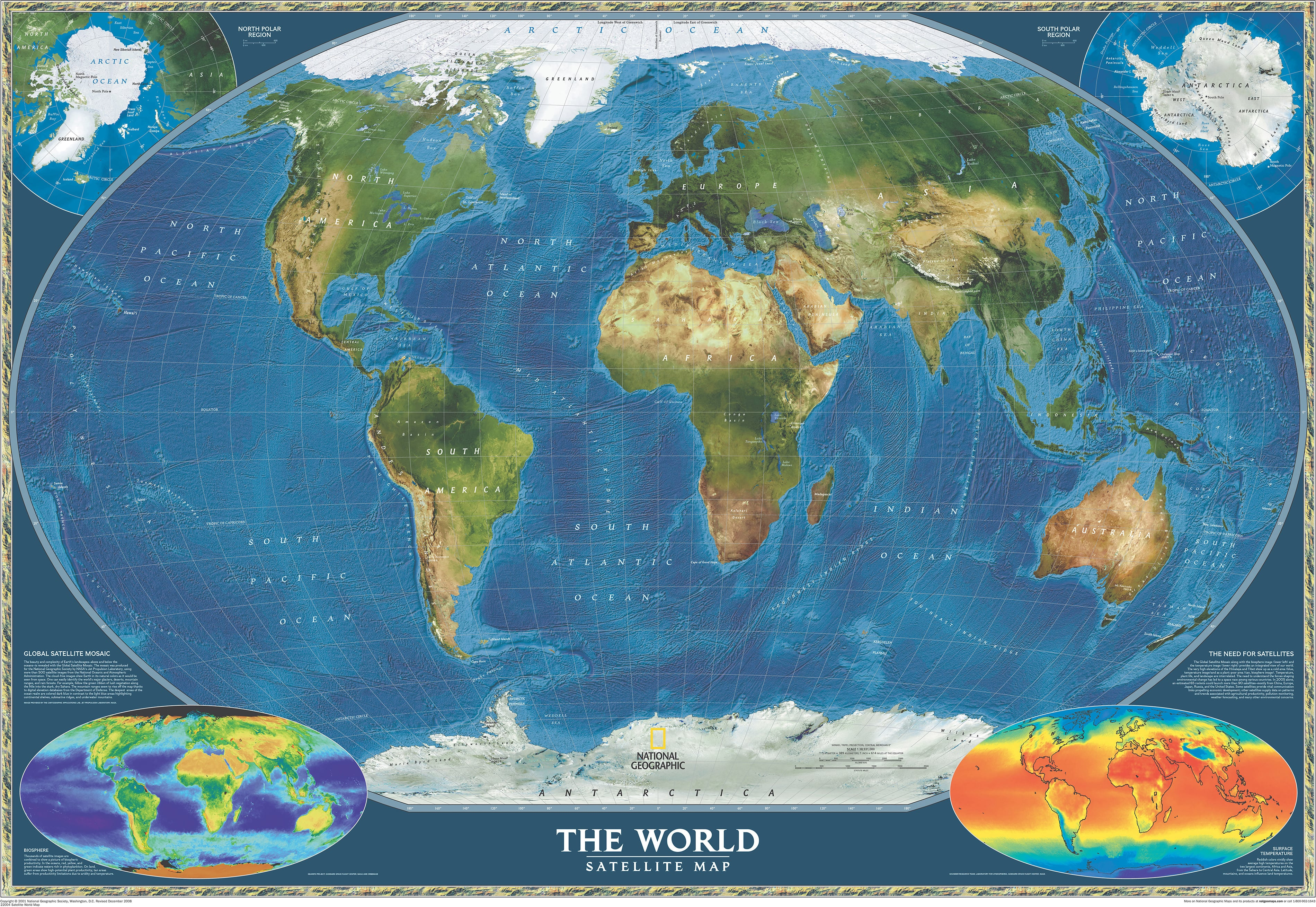 Satellite world map world maps national geographic maps gumiabroncs Image collections