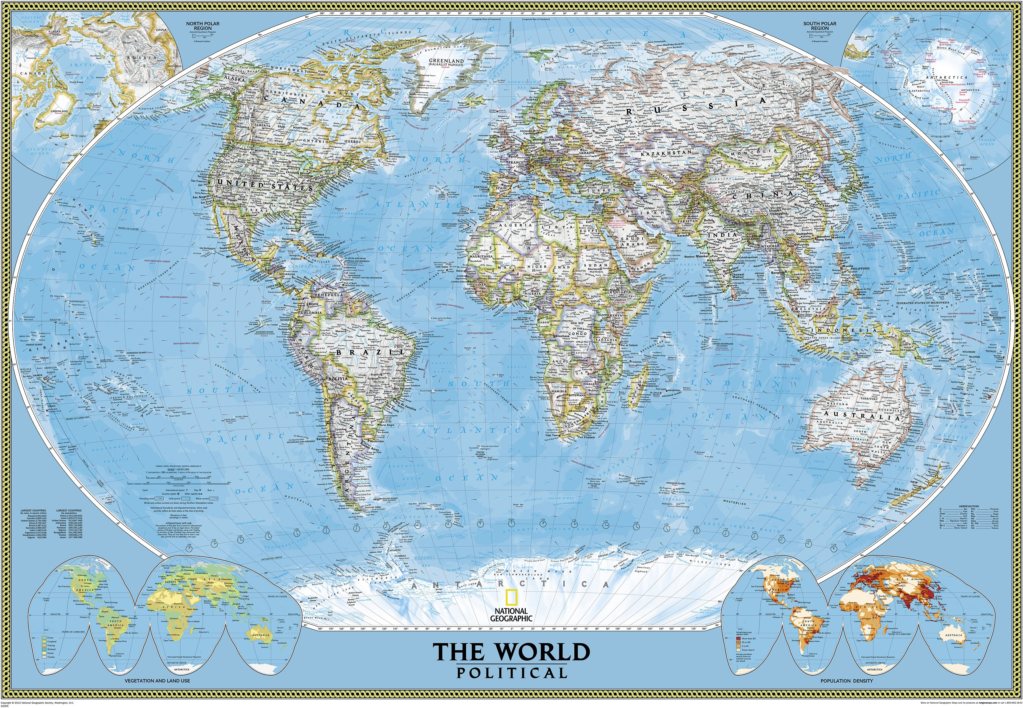 Political world map standard size world maps national political world map standard size world maps national geographic maps gumiabroncs Choice Image