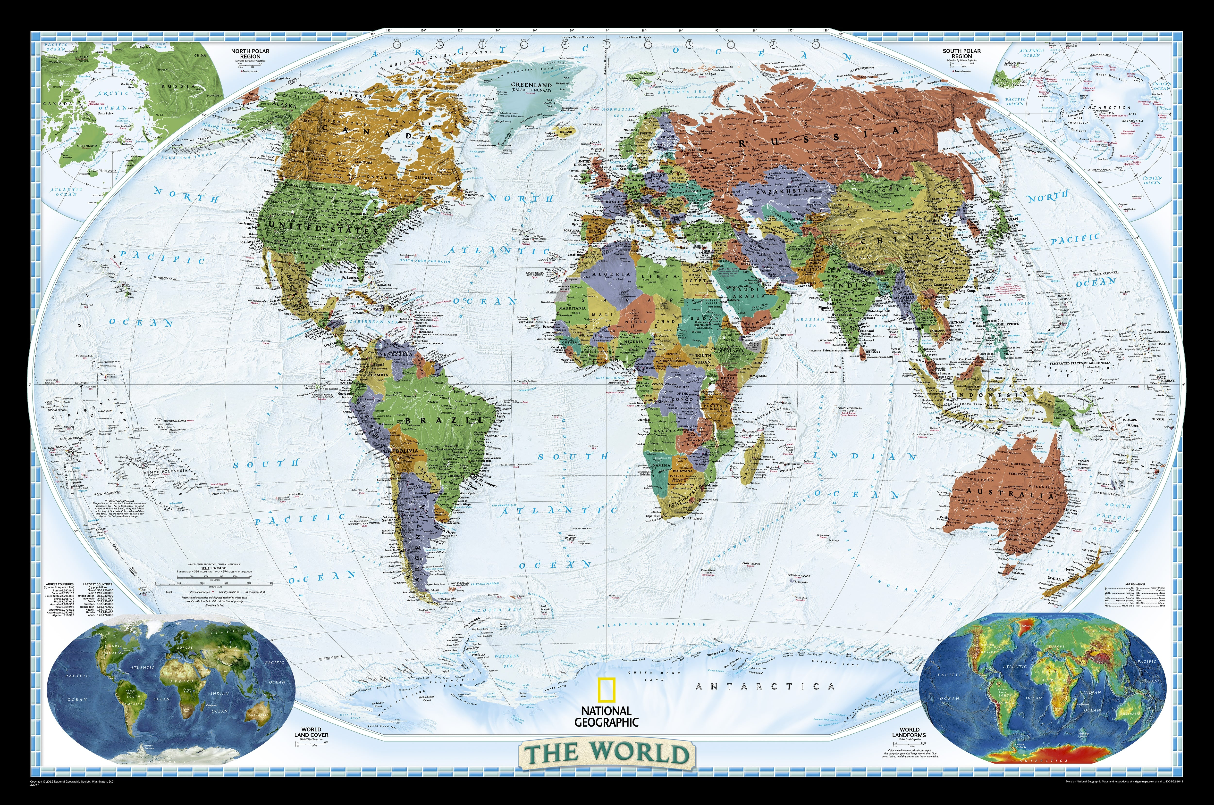 Decorator world map standard size world maps national decorator world map standard size world maps national geographic maps gumiabroncs Gallery