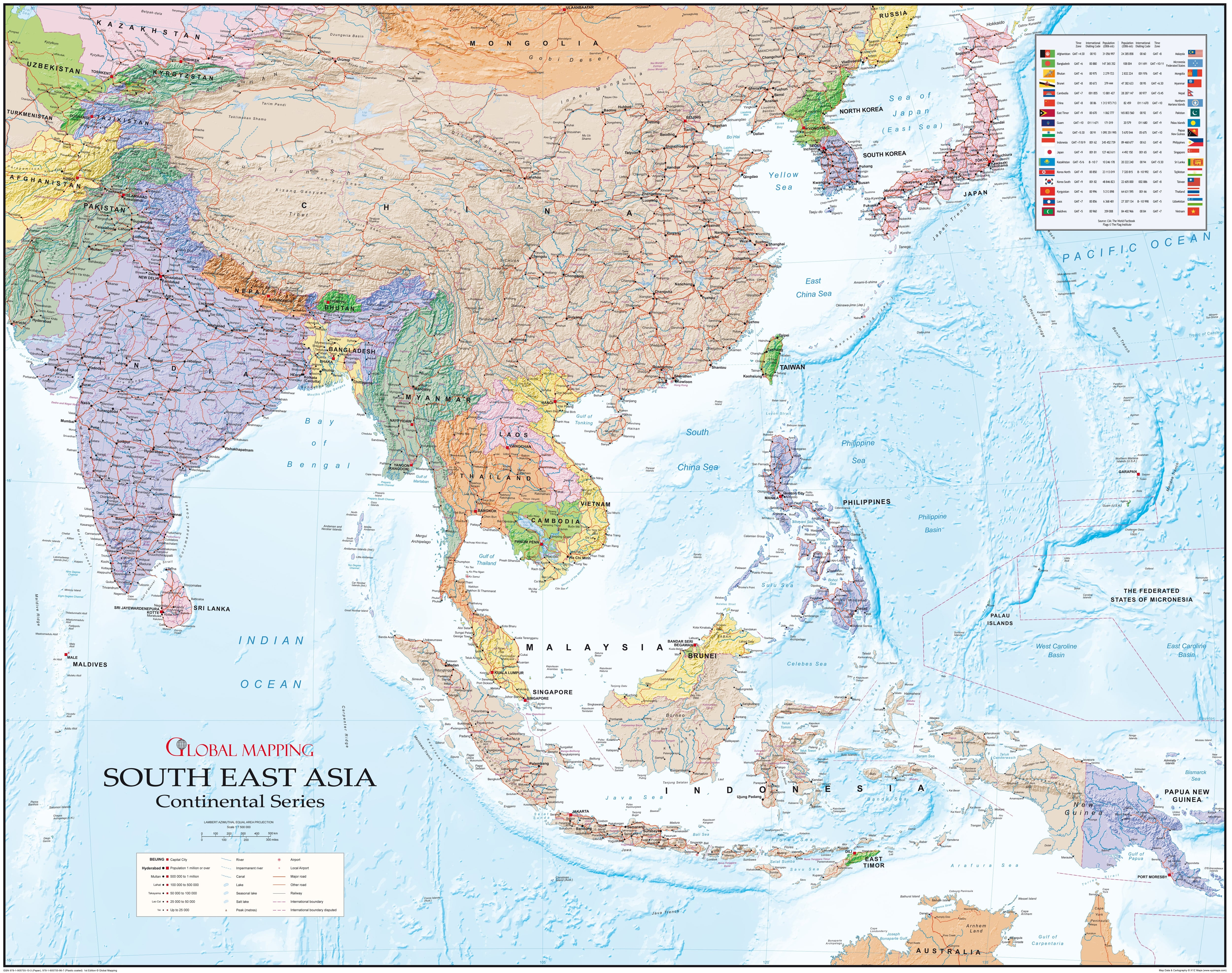 Southeast Asia Wall Map (GM) 120 x 95cm - Asia - Asia - Wall Maps