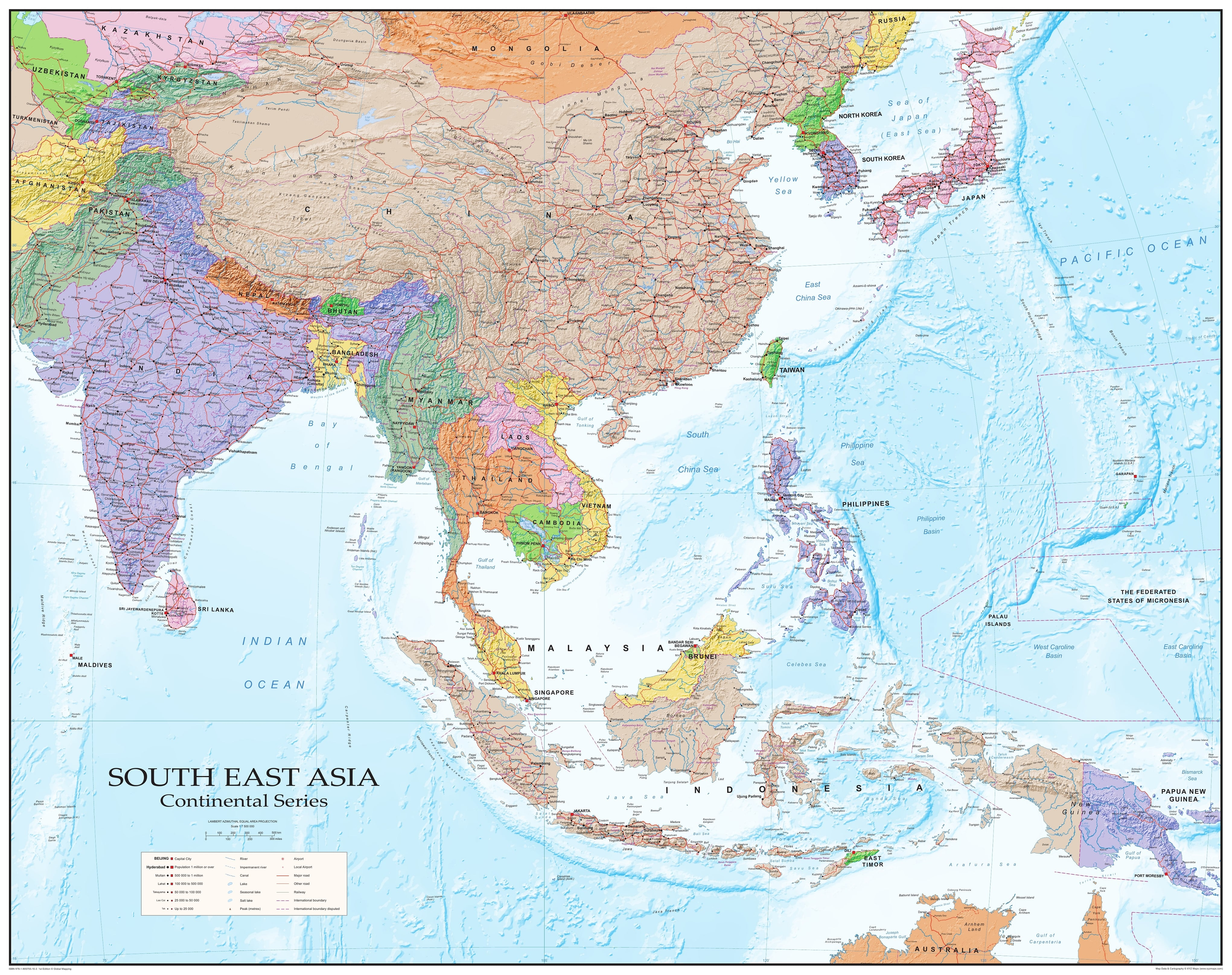 Southeast Asia Wall Map (GM) - Asia - Asia - Wall Maps