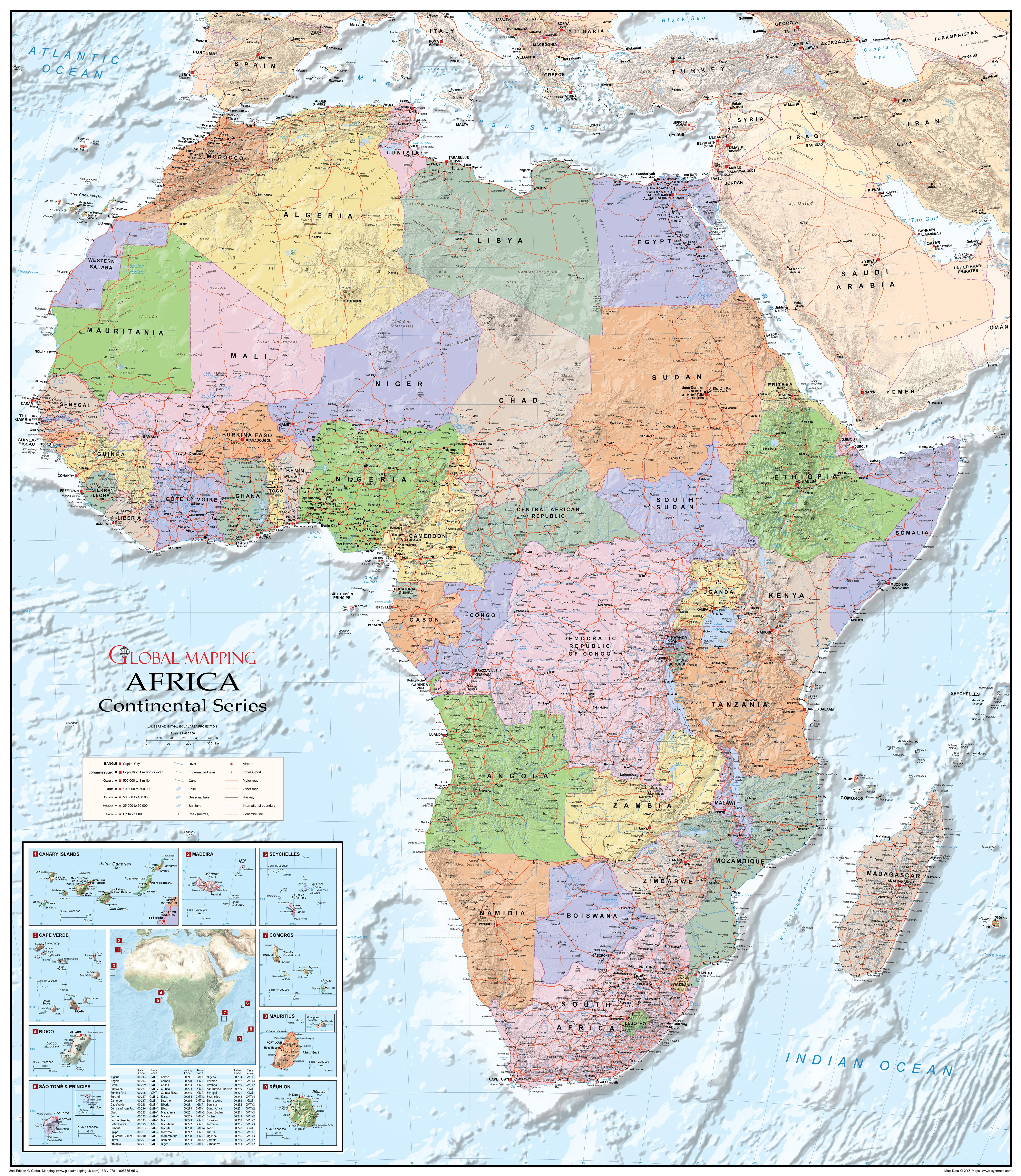 Map Of Africa In 1800.Political Africa Map Gm