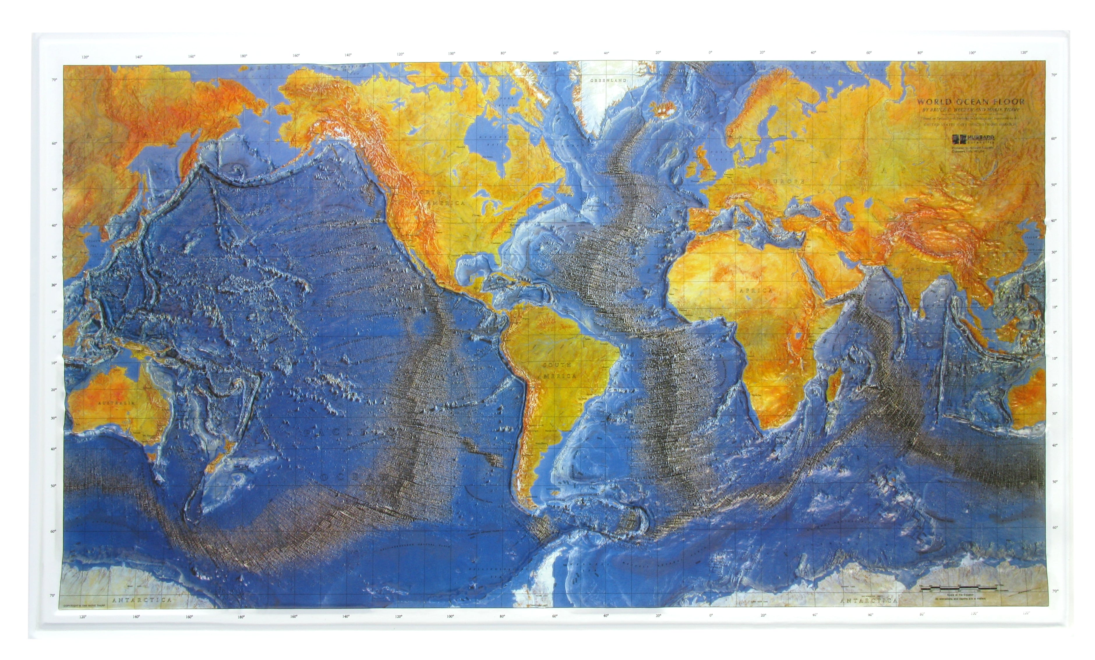 Relief Map Of The World.3d Relief World Map Ocean Floor Physical World Maps World Maps