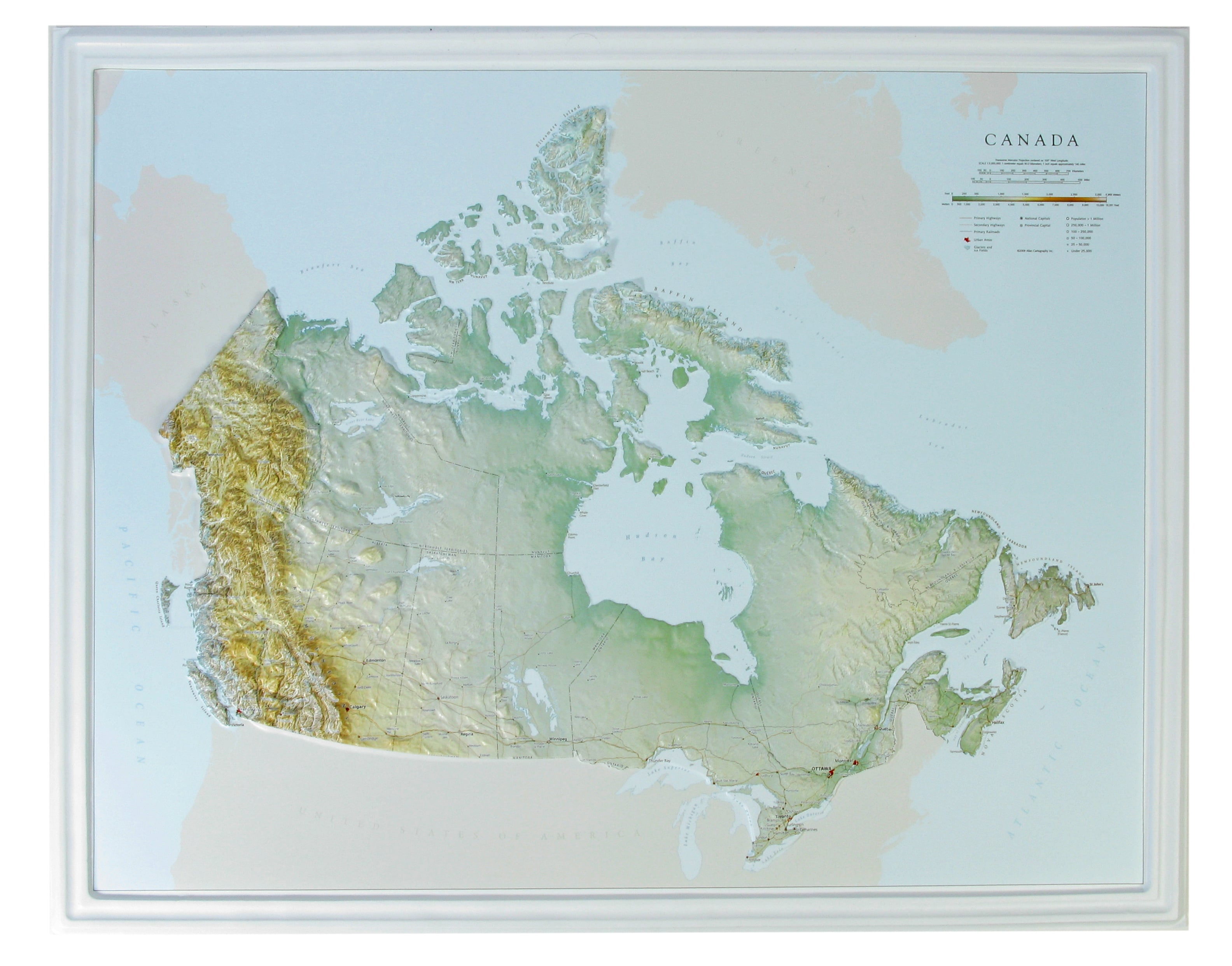 Ottawa Map Of Canada.Canada 3d Raised Relief Map 3d Countries And Regions Maps 3d