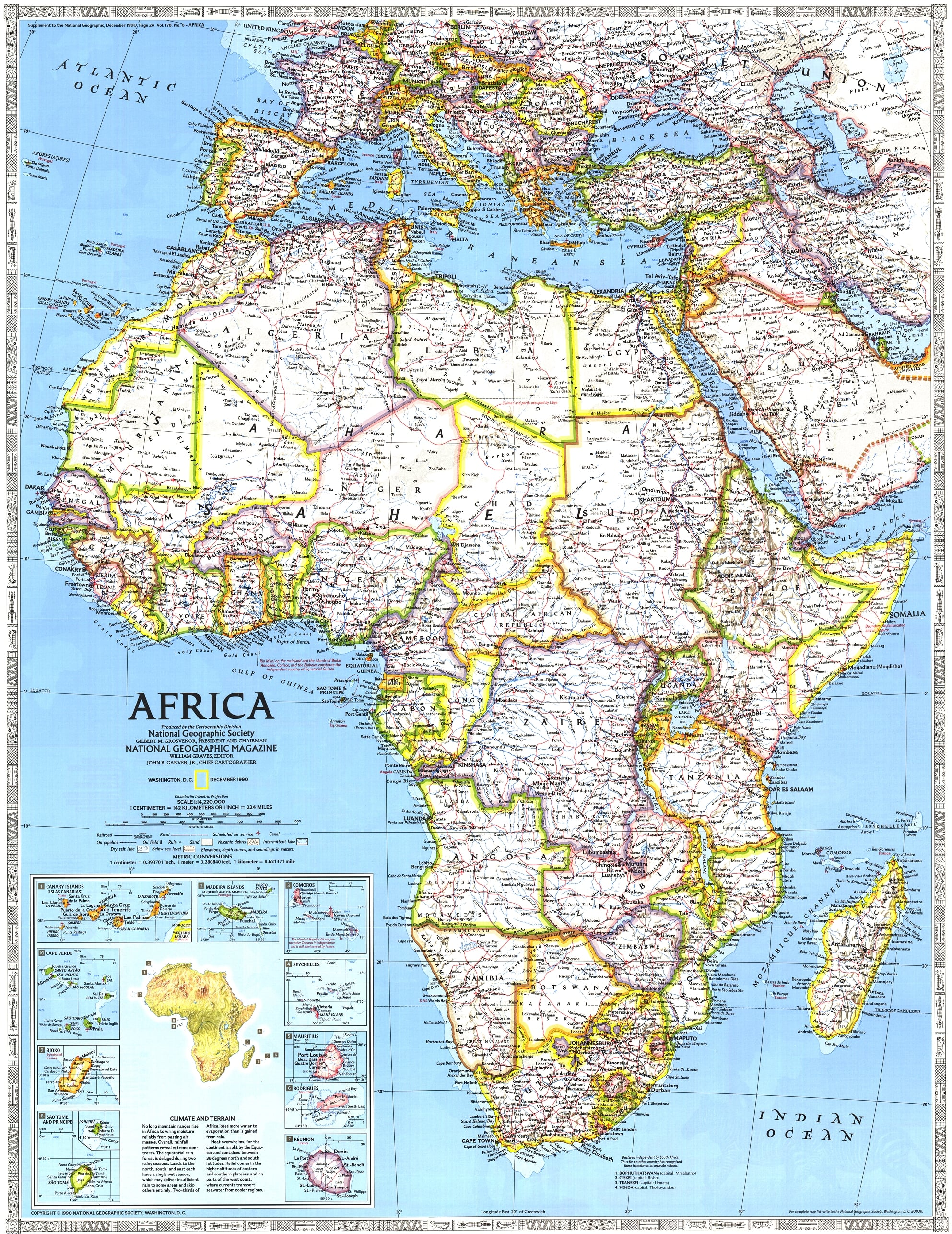 NGS 1990 Africa Map