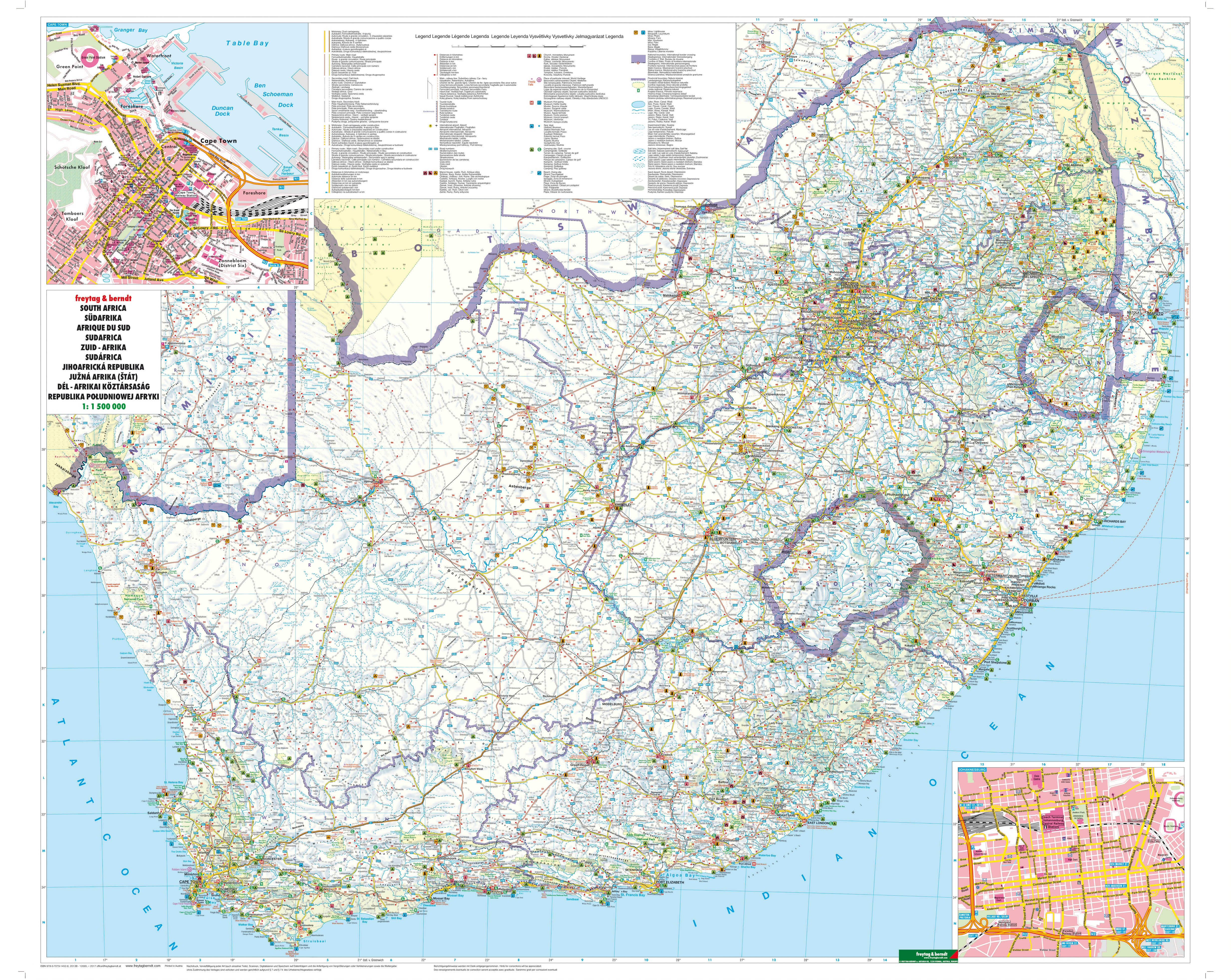South africa wall map africa countries africa wall maps gumiabroncs Images