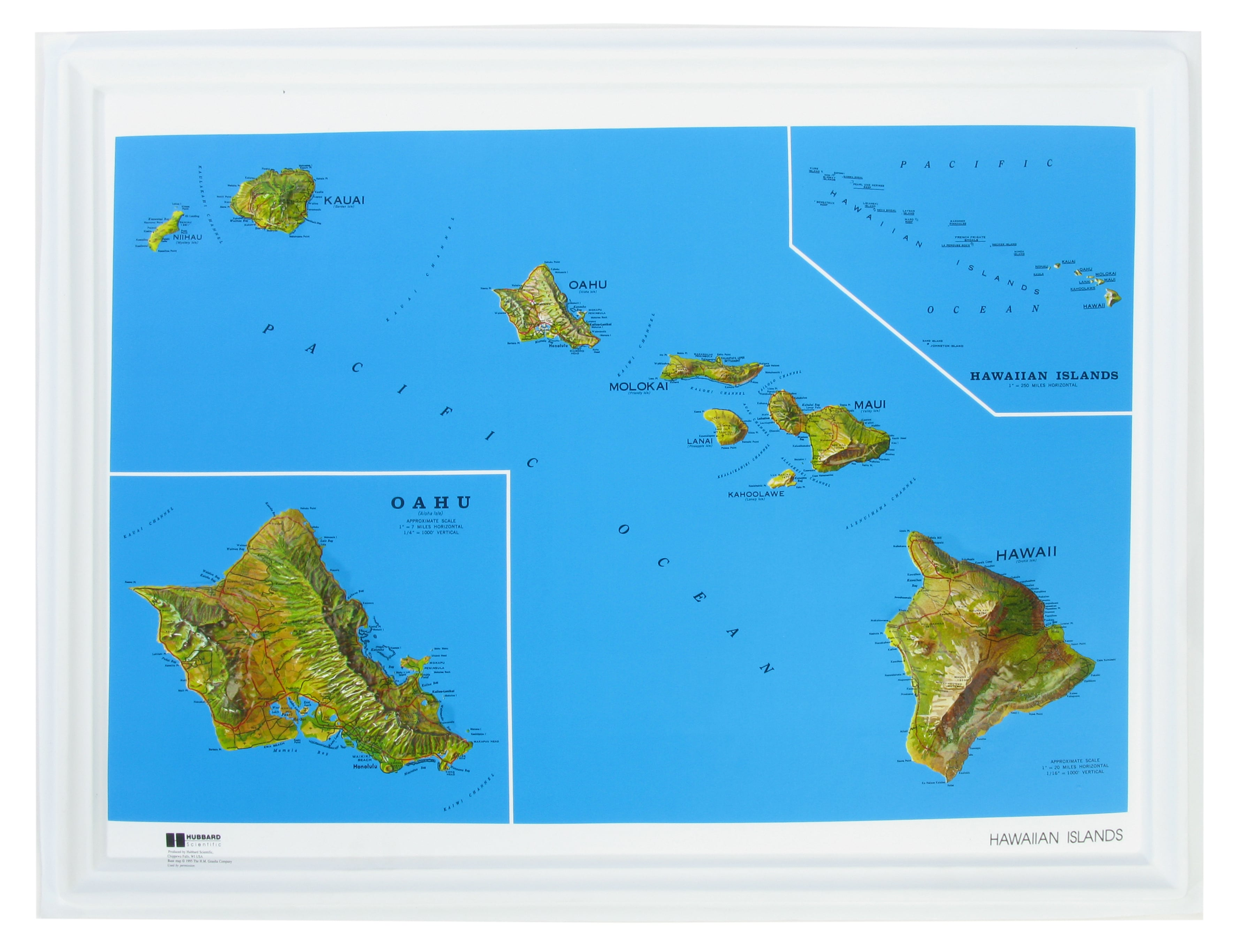 3d Relief Map Hawaiin Islands 3d Usa Us States 3d Raised