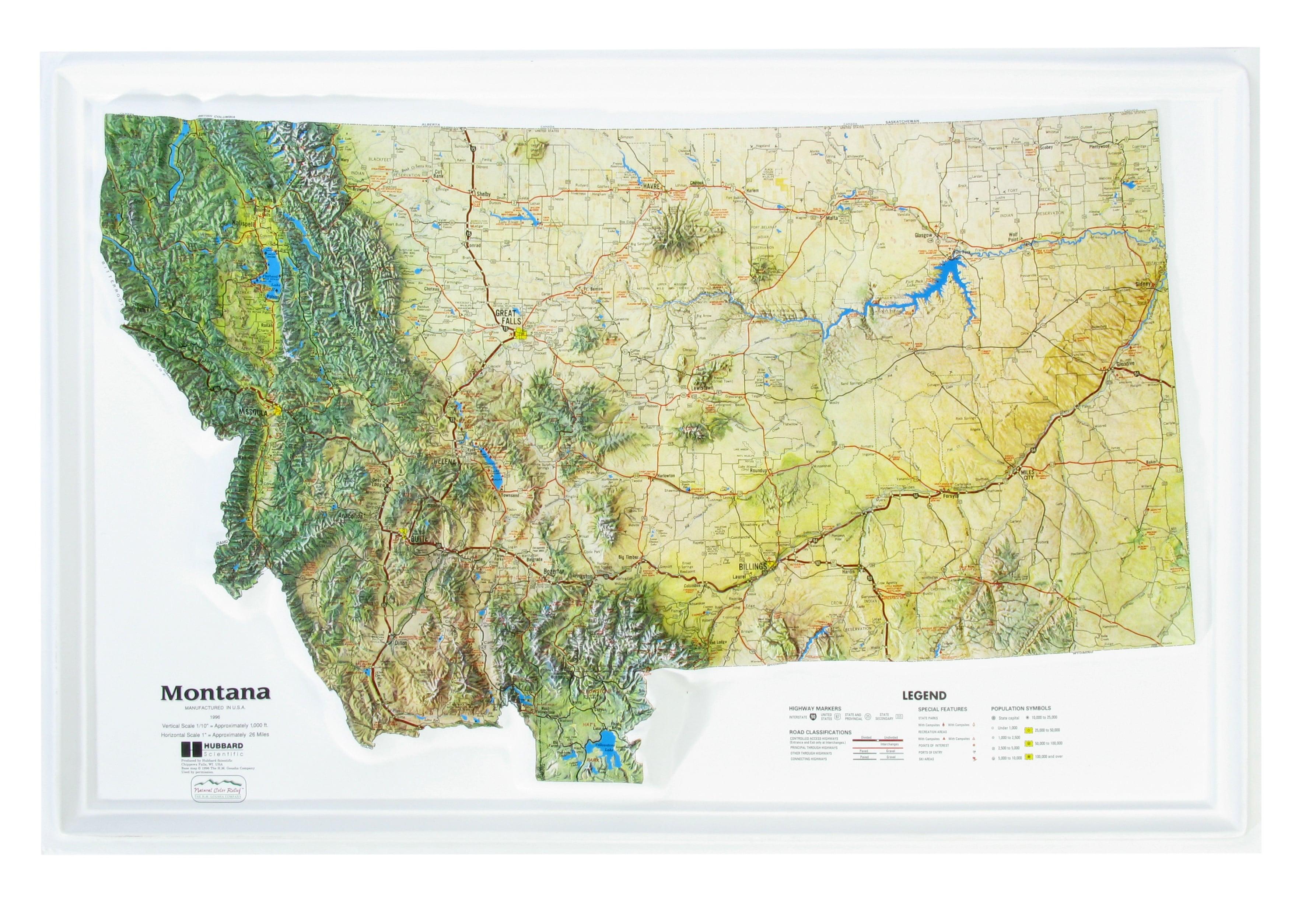 3D Relief Map Montana