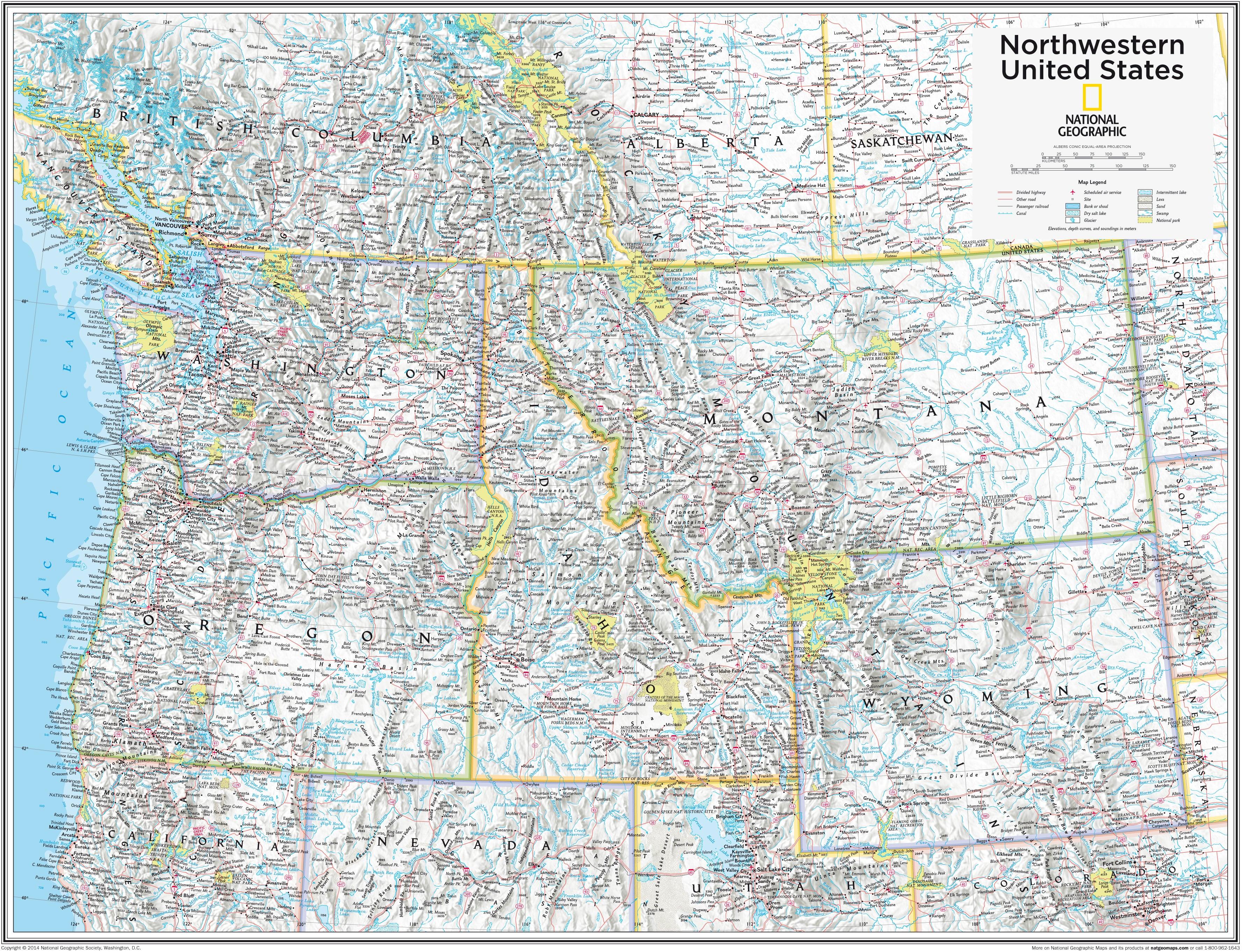 Northwestern United States 91 x 73cm