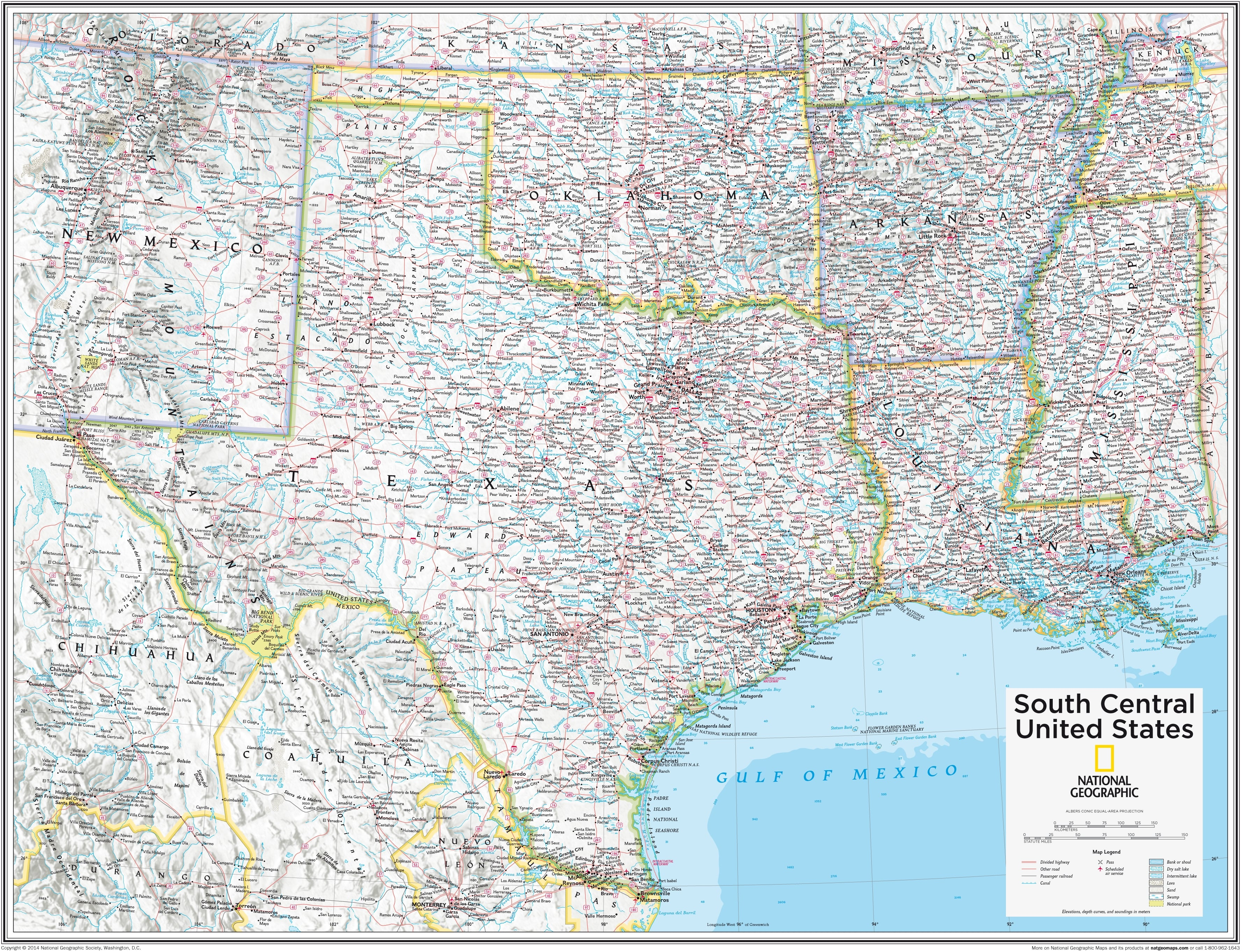 South Central United States 91 x 73cm