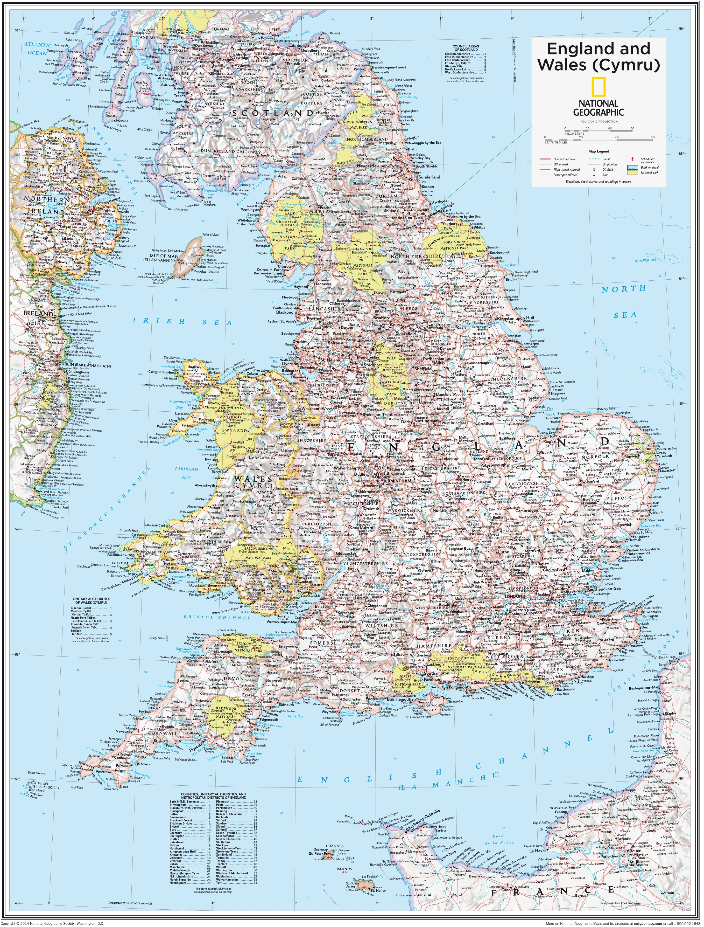 Show Map Of England.England And Wales Political Map 91 X 73cm