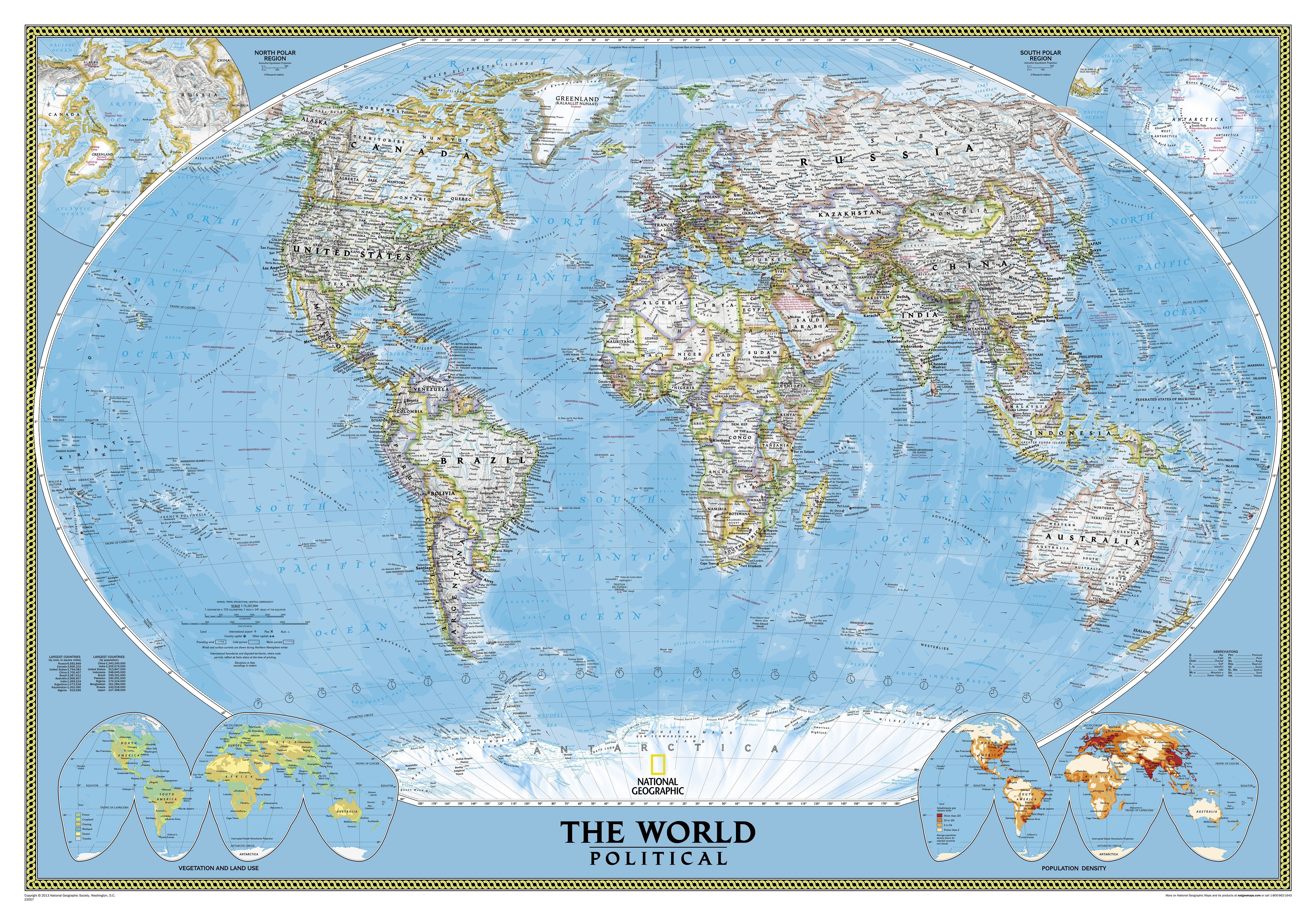 Political world map super large size world maps huge wall maps xxl gumiabroncs Choice Image