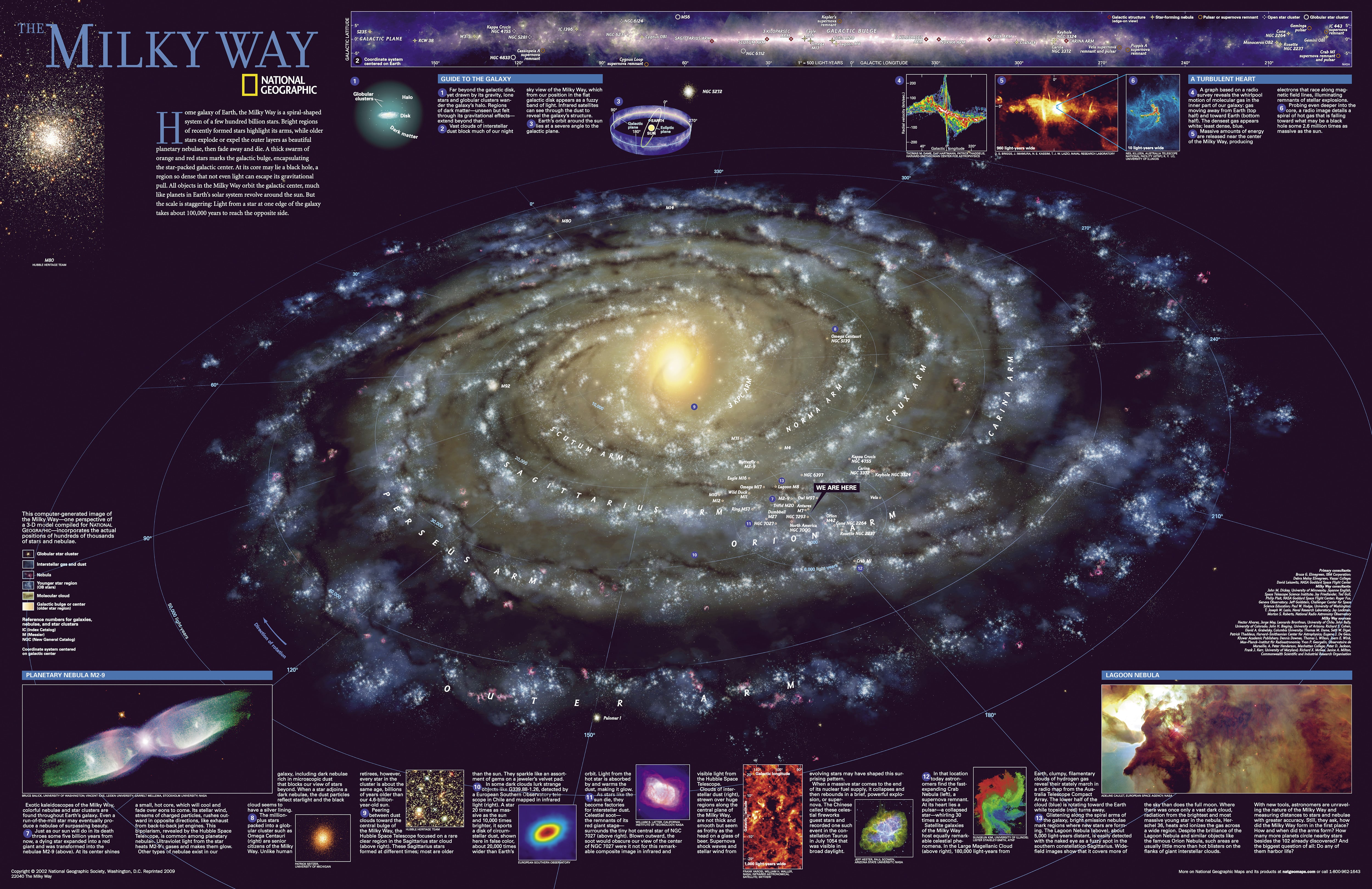 The Milky Way National Geographic  Universe Maps  National