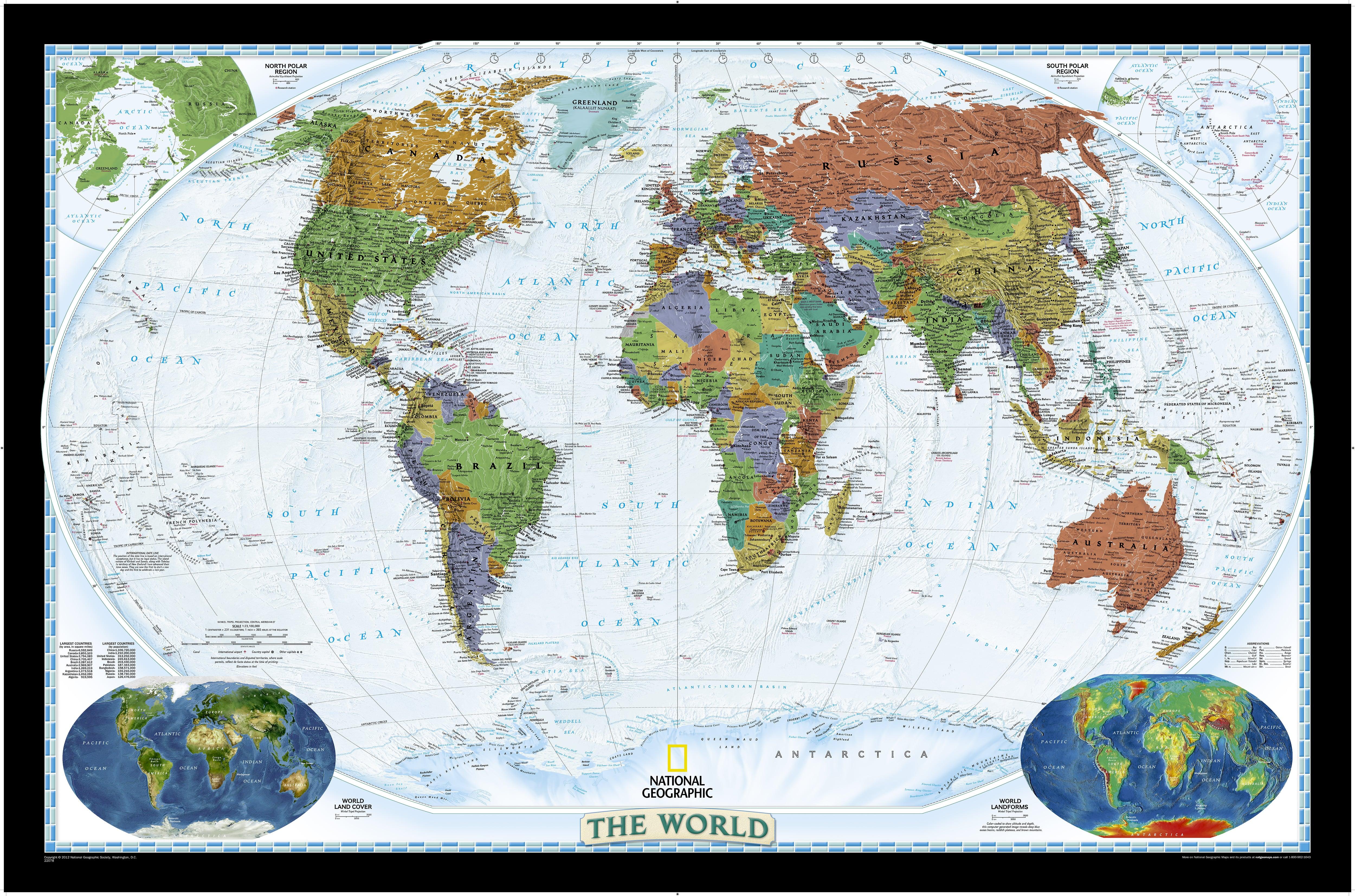 Decorator World Map (large size) - World Maps - huge Wall Maps XXL