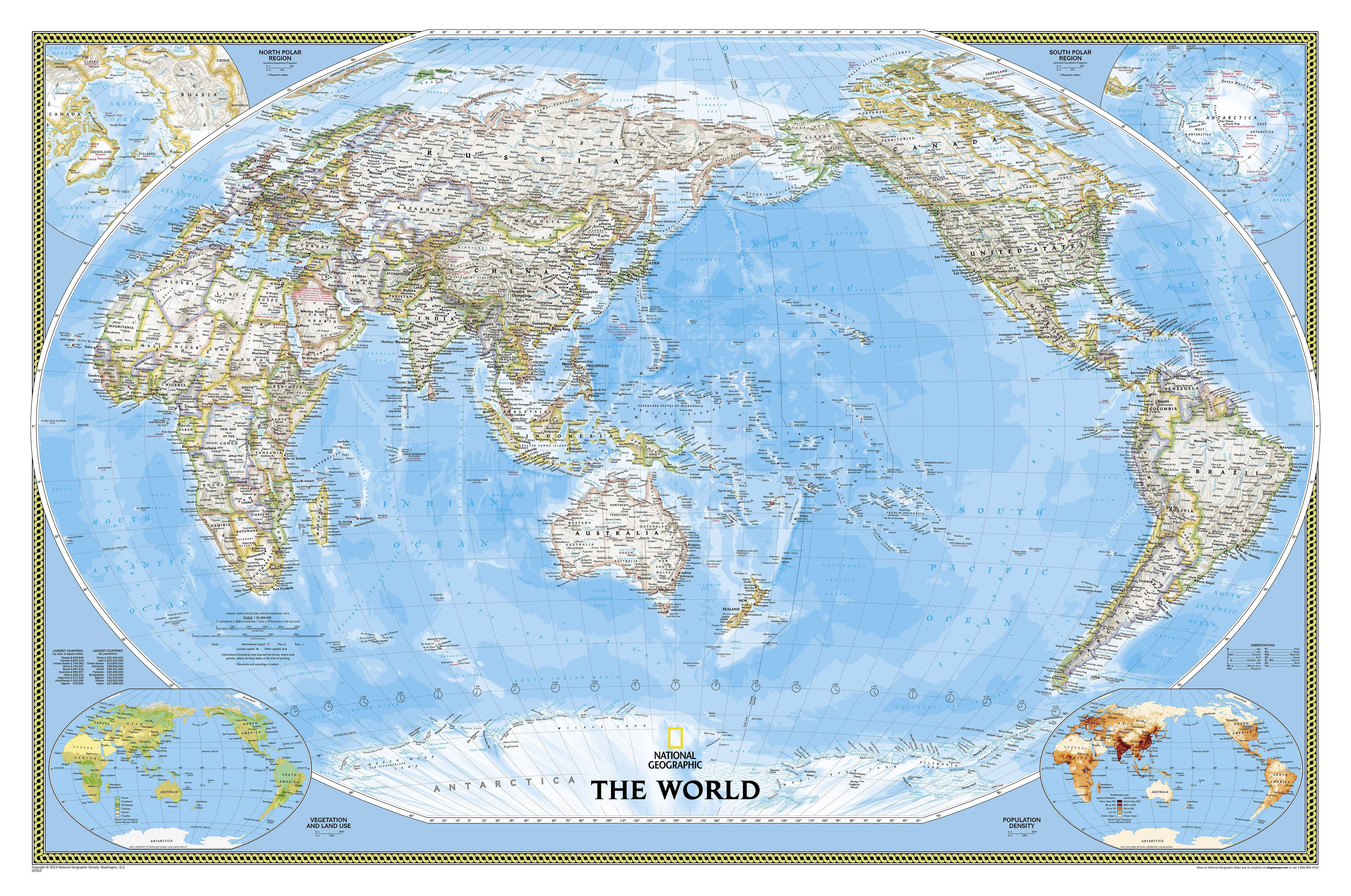 National Geographic Political World Map Pacific Rim - World decorator map