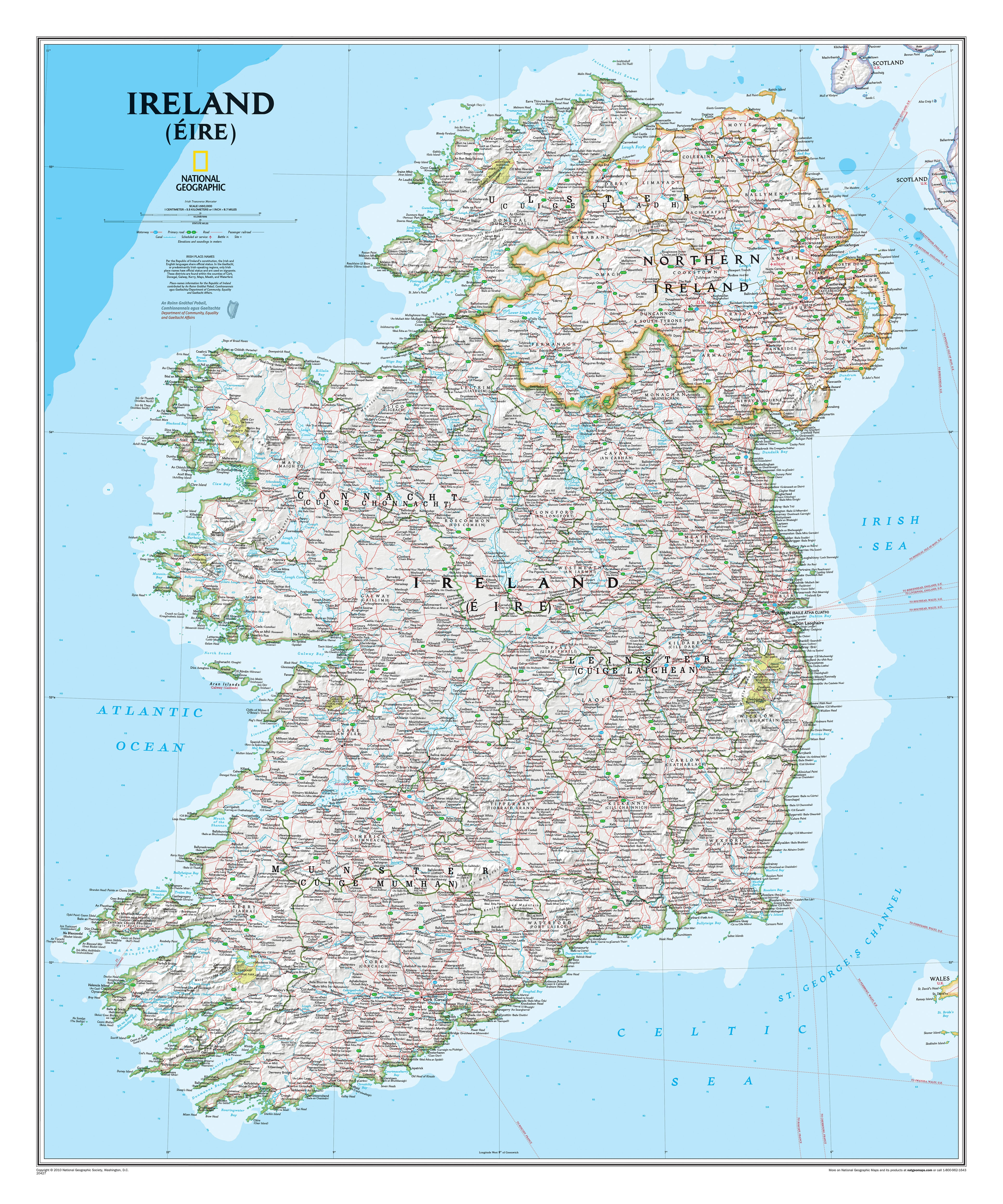 Ireland wall map westeurope countries europe wall maps gumiabroncs Gallery
