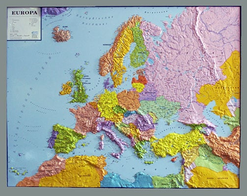 3d relief europe map political framed 3d europe continents 3d 3d relief europe map political framed 3d europe continents 3d raised relief maps gumiabroncs Images
