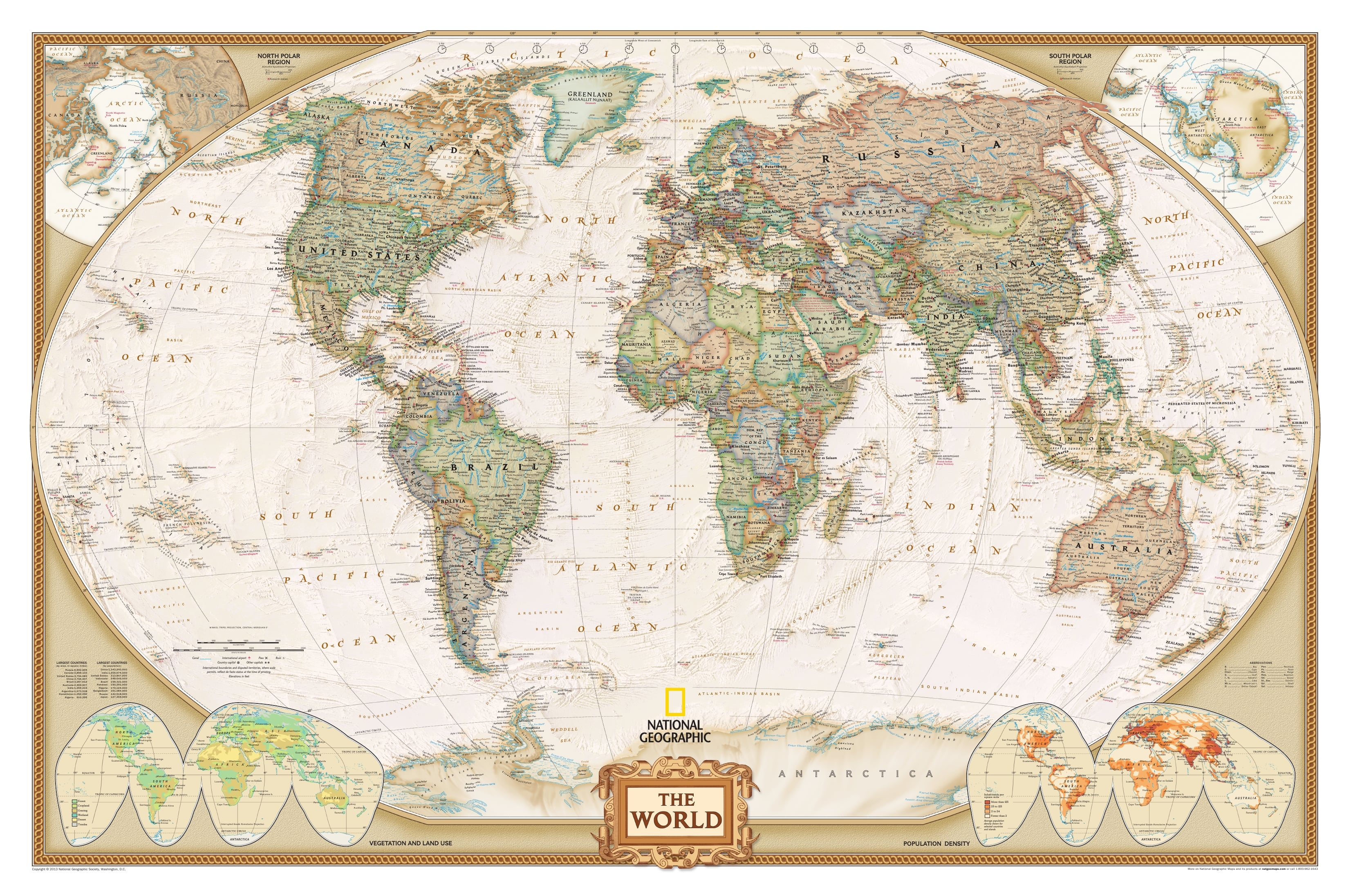 English Map Of The World.World Map Executive English Antique Style As Wallpaper