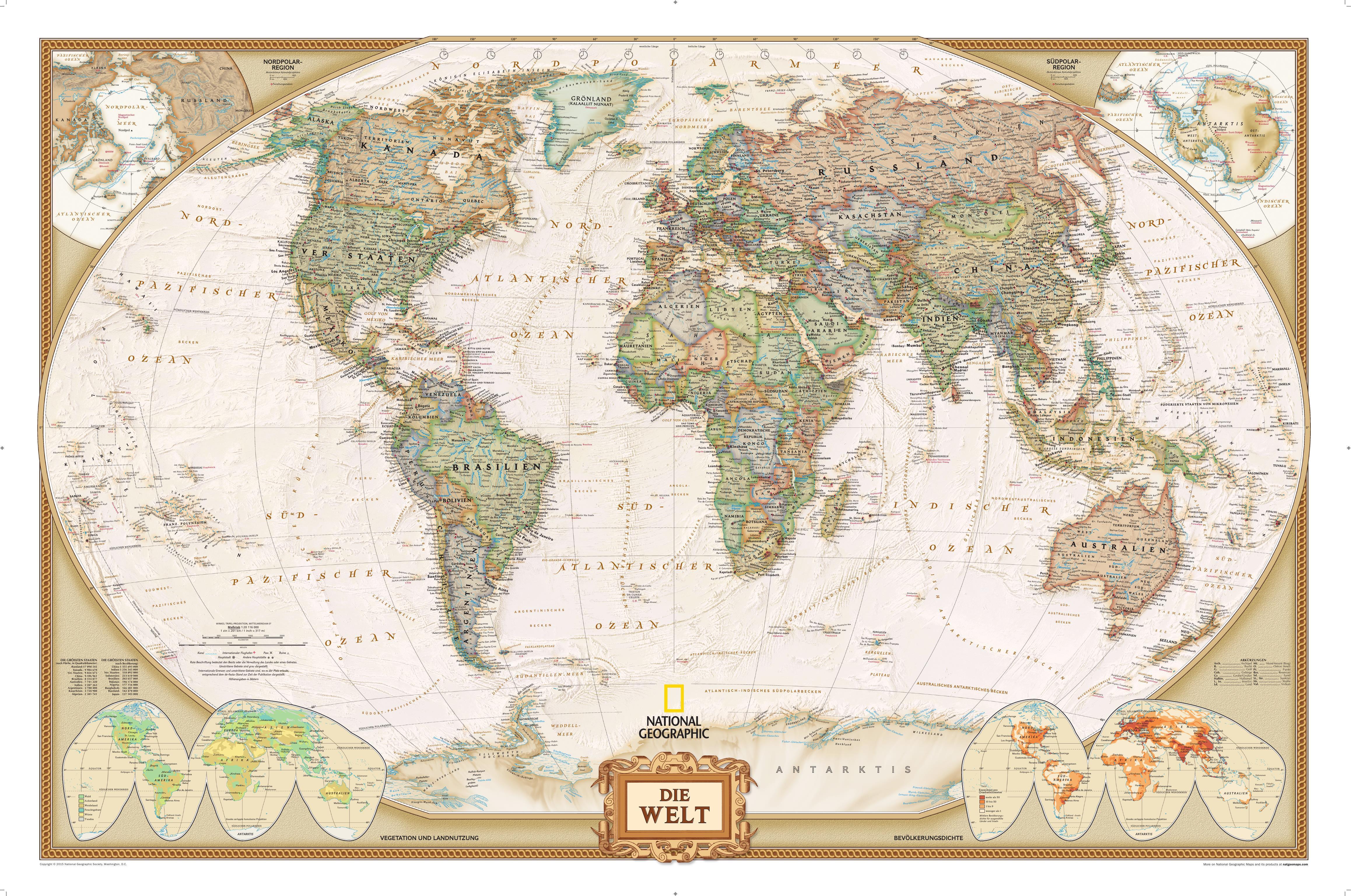 World map executive german world maps national geographic maps gumiabroncs Choice Image