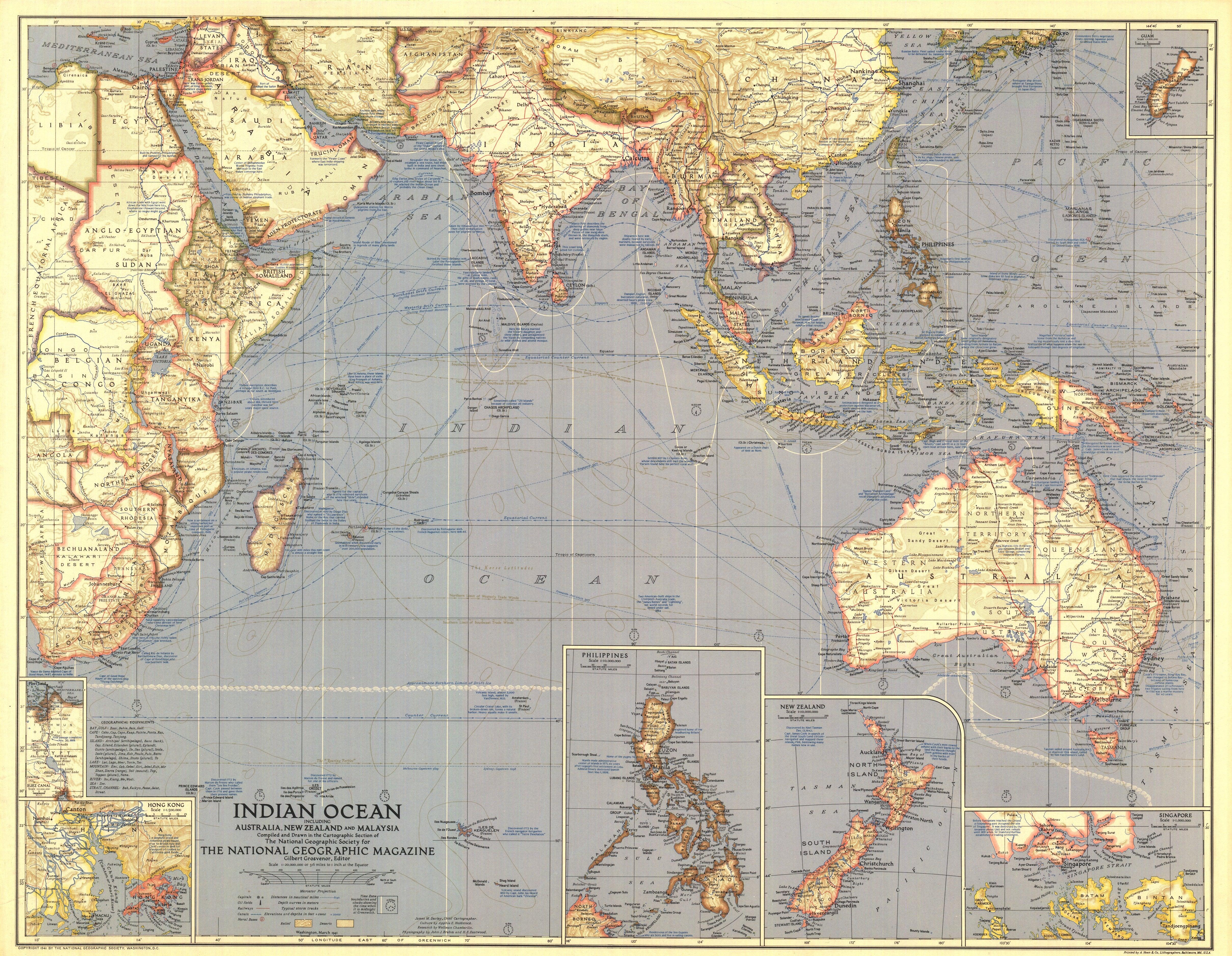 Ngs 1941 Indian Ocean Map
