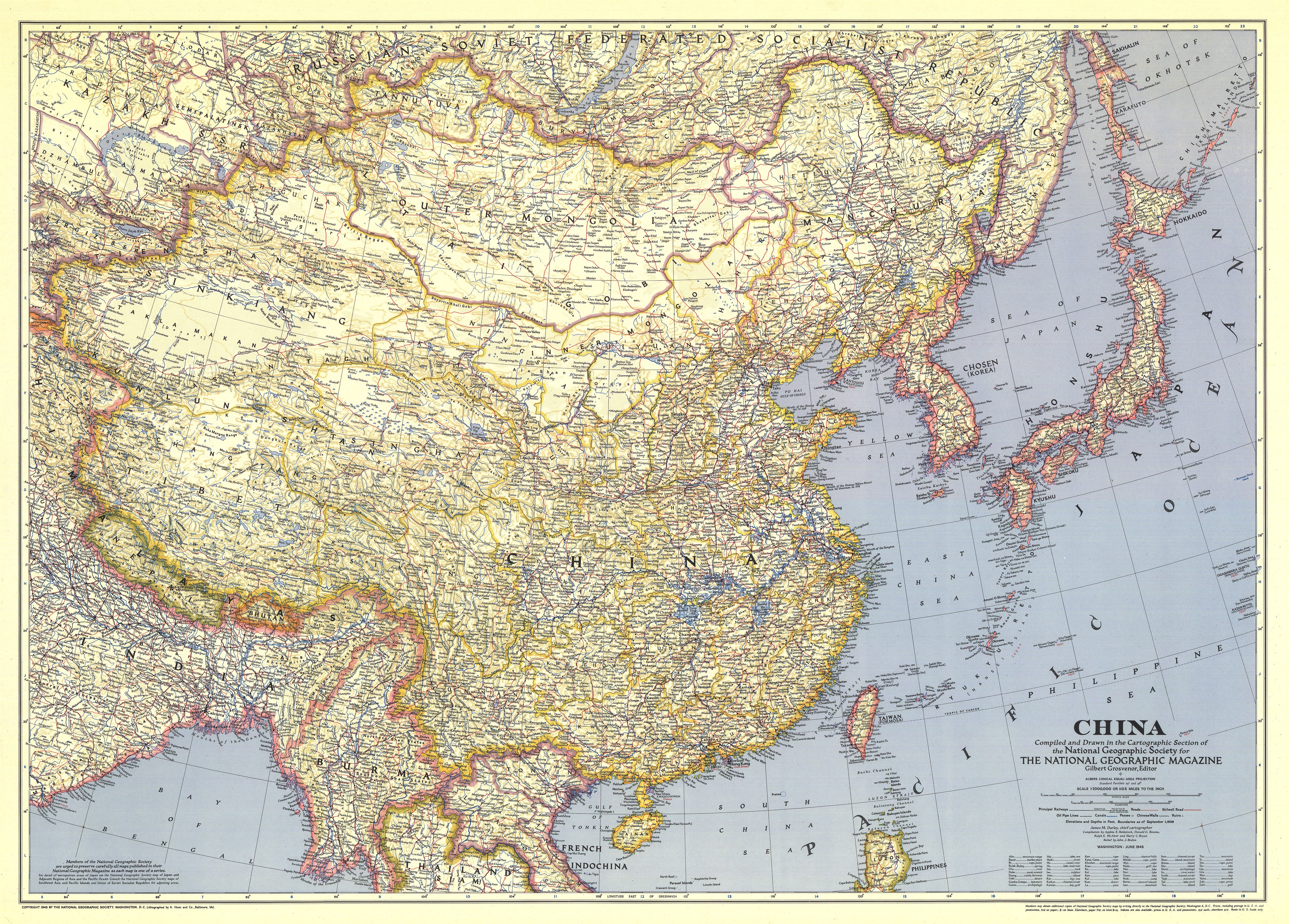 NGS 1945 China Map