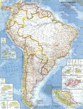 NGS 1960 South America Map