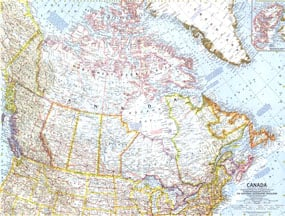 NGS 1961 Canada Map Canada Map Pictures on