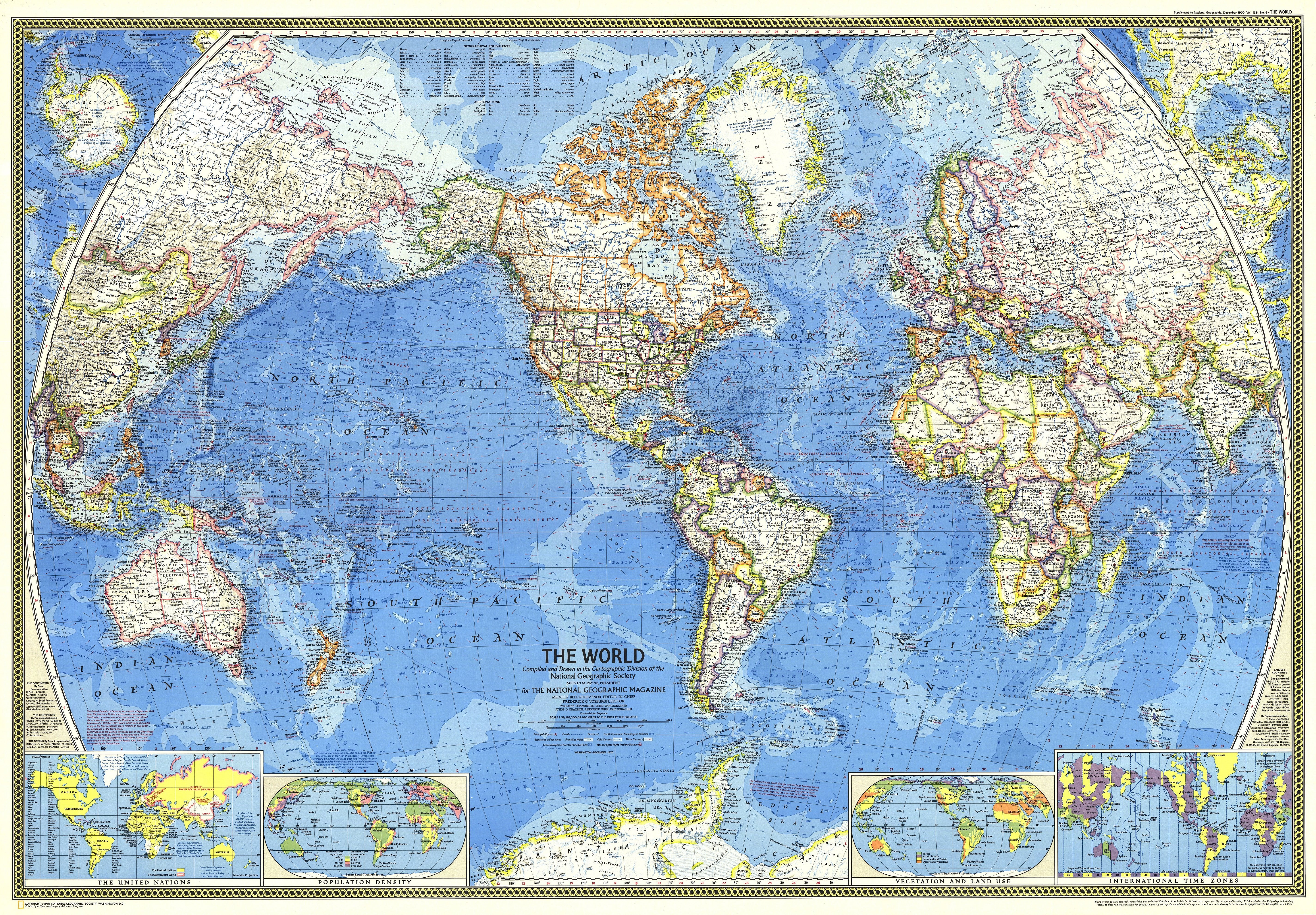 Ngs 1970 World Map