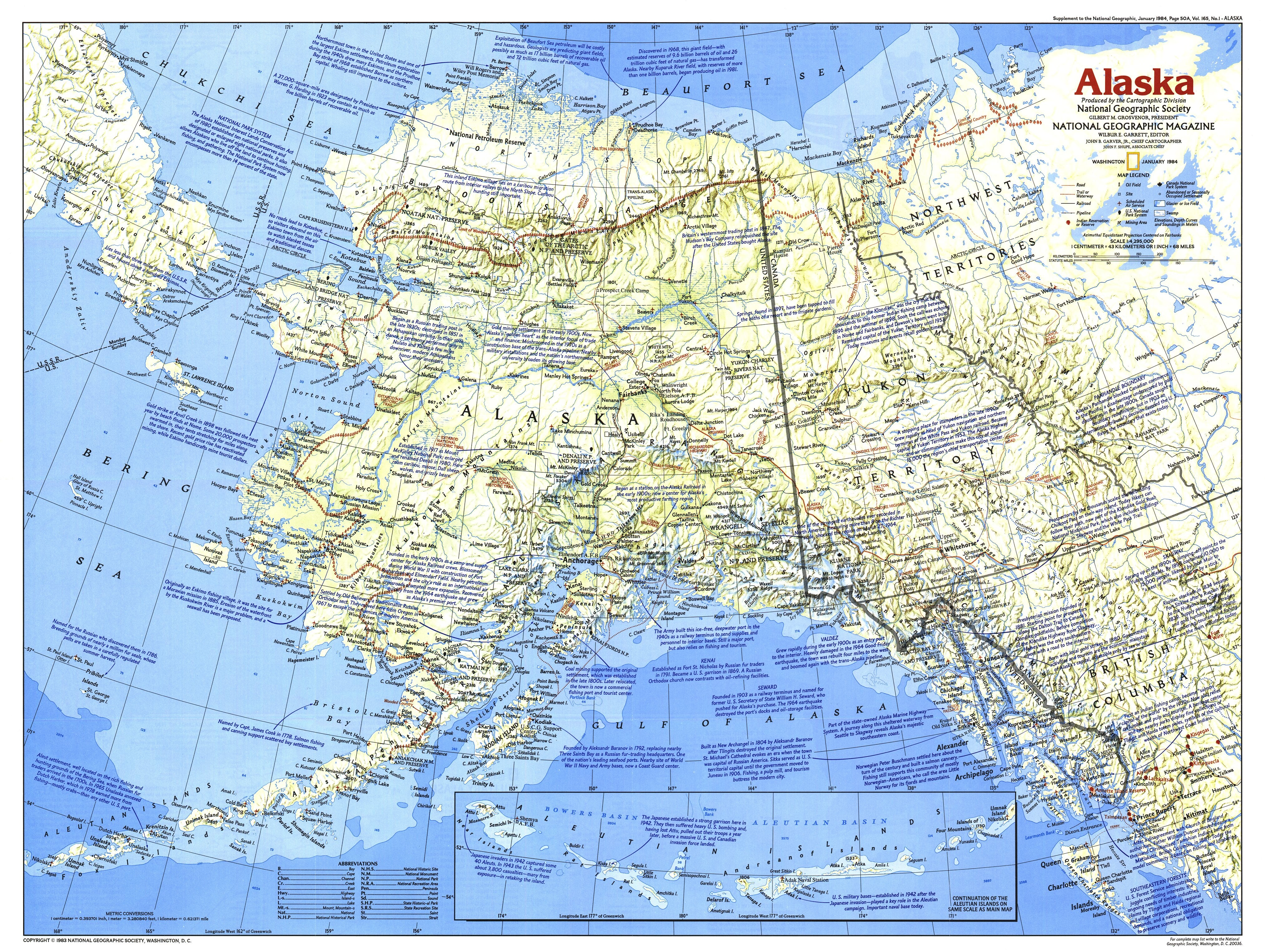 NGS 1984 Alaska Map Side 1