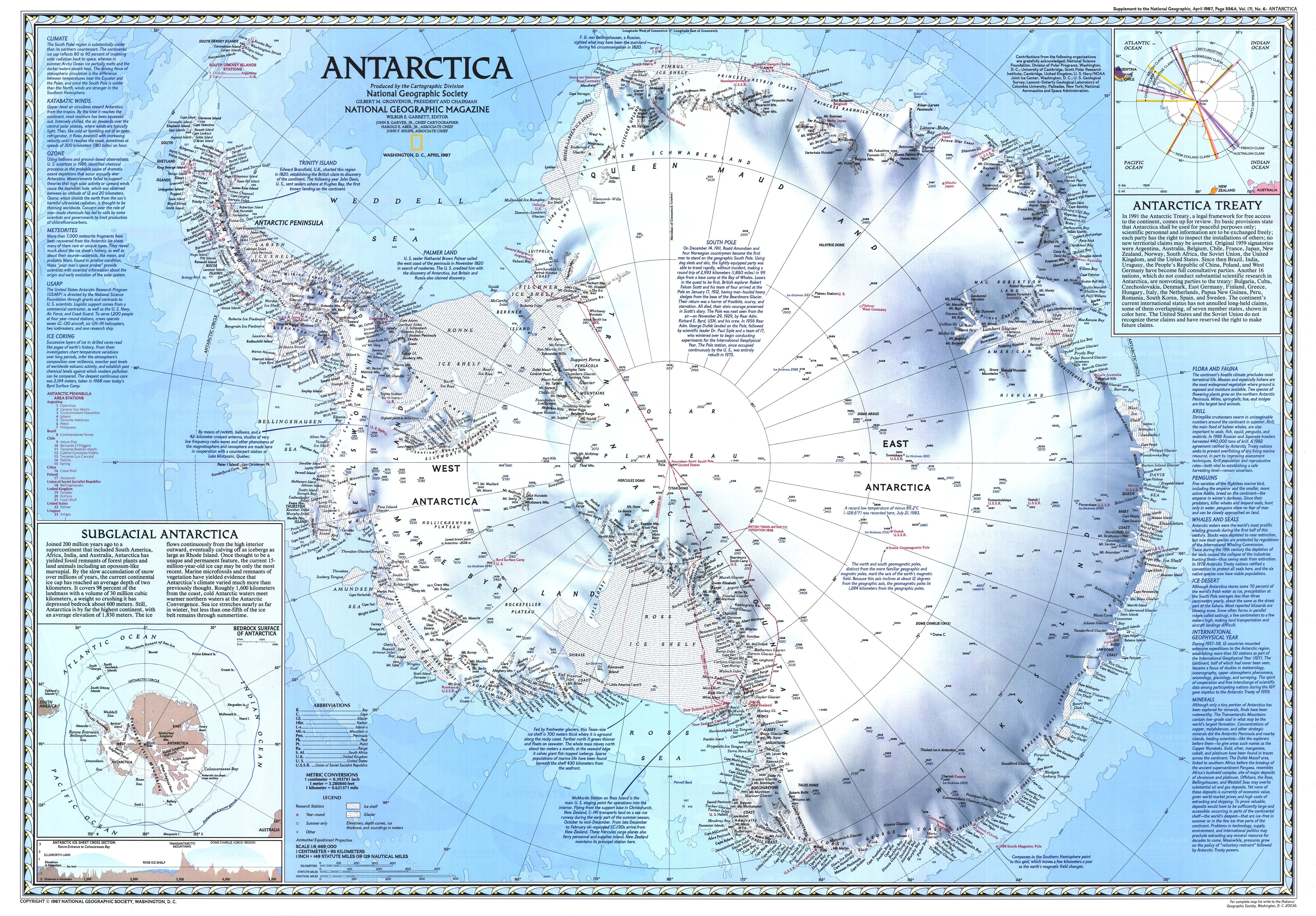 1987 Antarctica Map