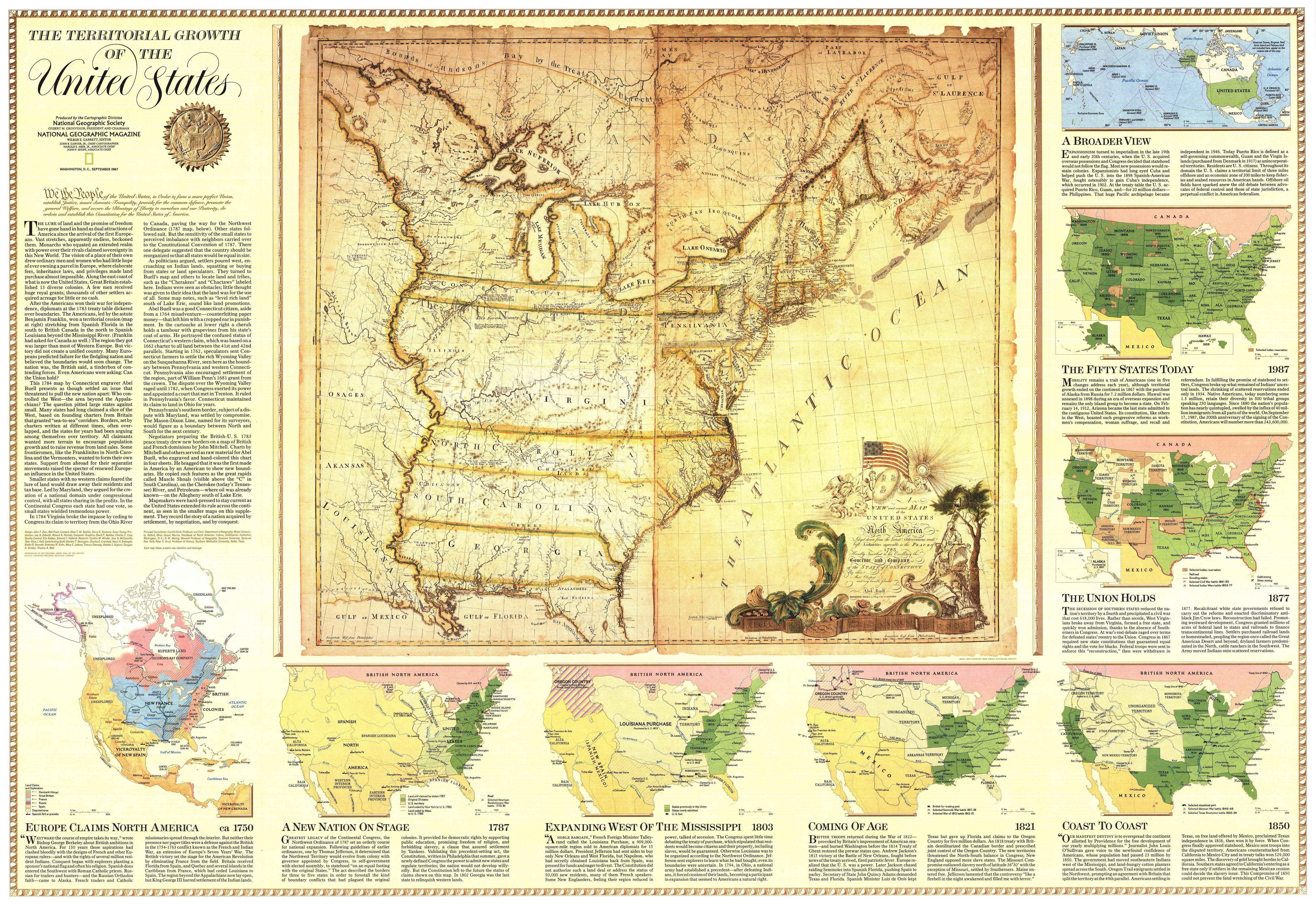 1987 Territorial Growth Of The United States Map