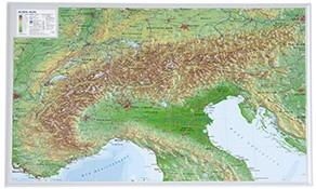 3D Relief Länder und Regionen