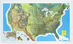 3D Relief USA Karten