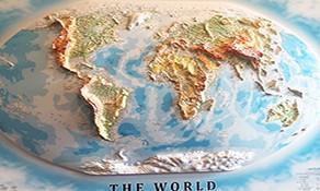 Relief Weltkarten