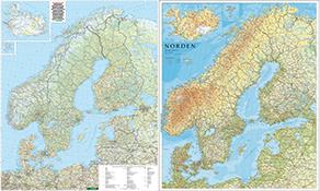 Nordeuropa Landkarten