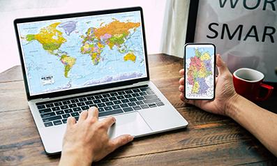 Digitale Landkarten