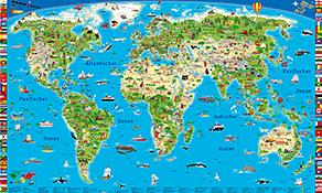 Kinder Weltkarten