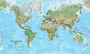 physikalische Weltkarten