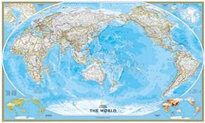 Weltkarte in Pazifik Ansicht