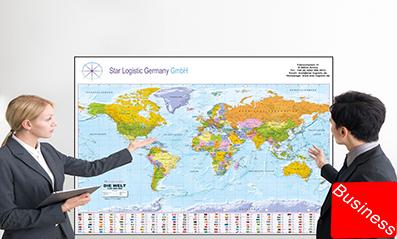 Landkarten mit Werbeeindruck