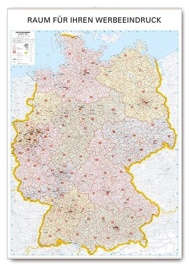 Wandkarte Postleitzahlenkarte Deutschland mit Logo