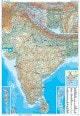 Indien Landkarte physikalisch - Indien Karte als Poster