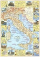 1970 Italien Rejsekort side 1 58 x 82cm