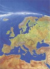 Panorama Wandkarte Europa