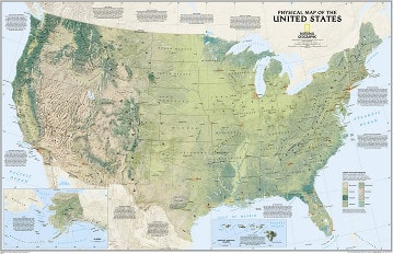 USA Map - US Map - United States Map from National Geographic
