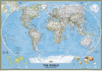 Politische Weltkarte Poster von National Geographic