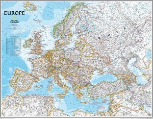 Europakarte Europa Poster National Geographic