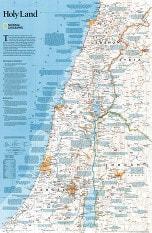 Heiliges Land Landkarte mit Karten von Israel, Jordanien, Syrien, Libanon