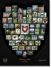 Natur Alphabet Poster #10 - Hearts and Love - schwarz