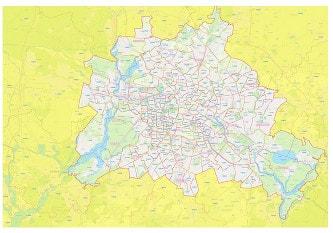 Berlin Postcode Area Map